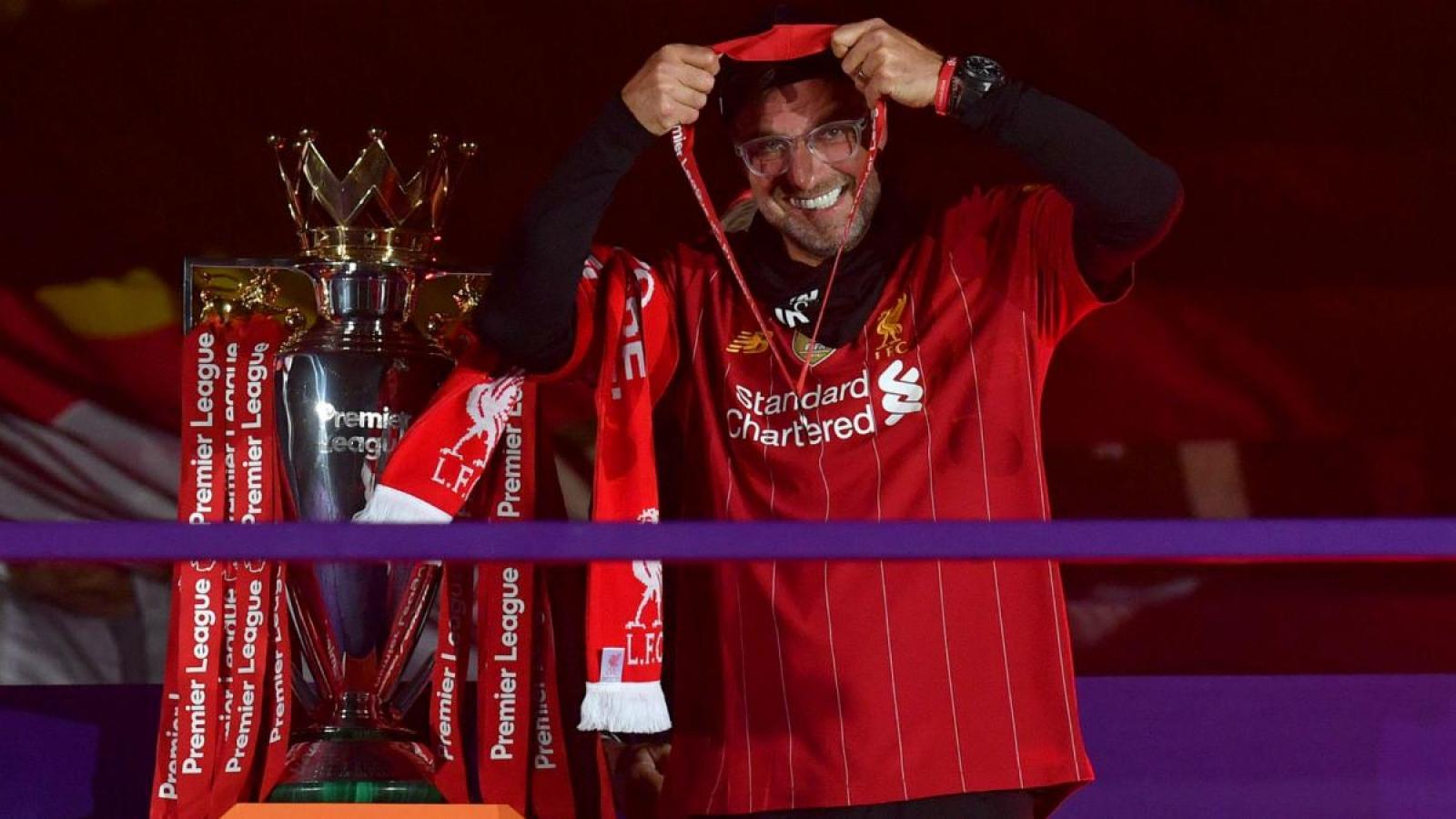 """Jurgen Klopp nhận danh hiệu """"HLV xuất sắc nhất Premier League 2019/2020"""""""