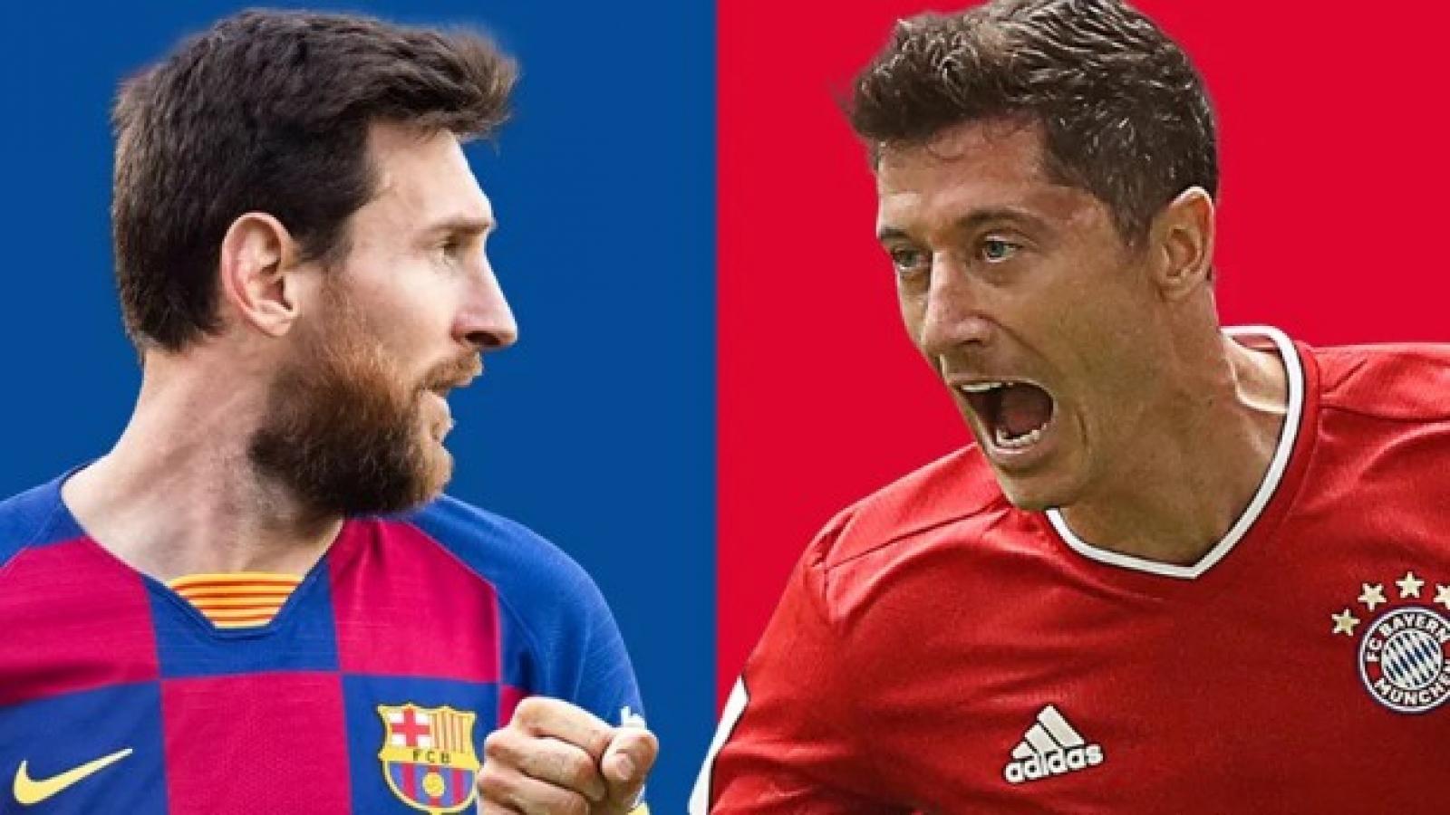 Lịch thi đấu bóng đá hôm nay (14/8): Barca đại chiến Bayern