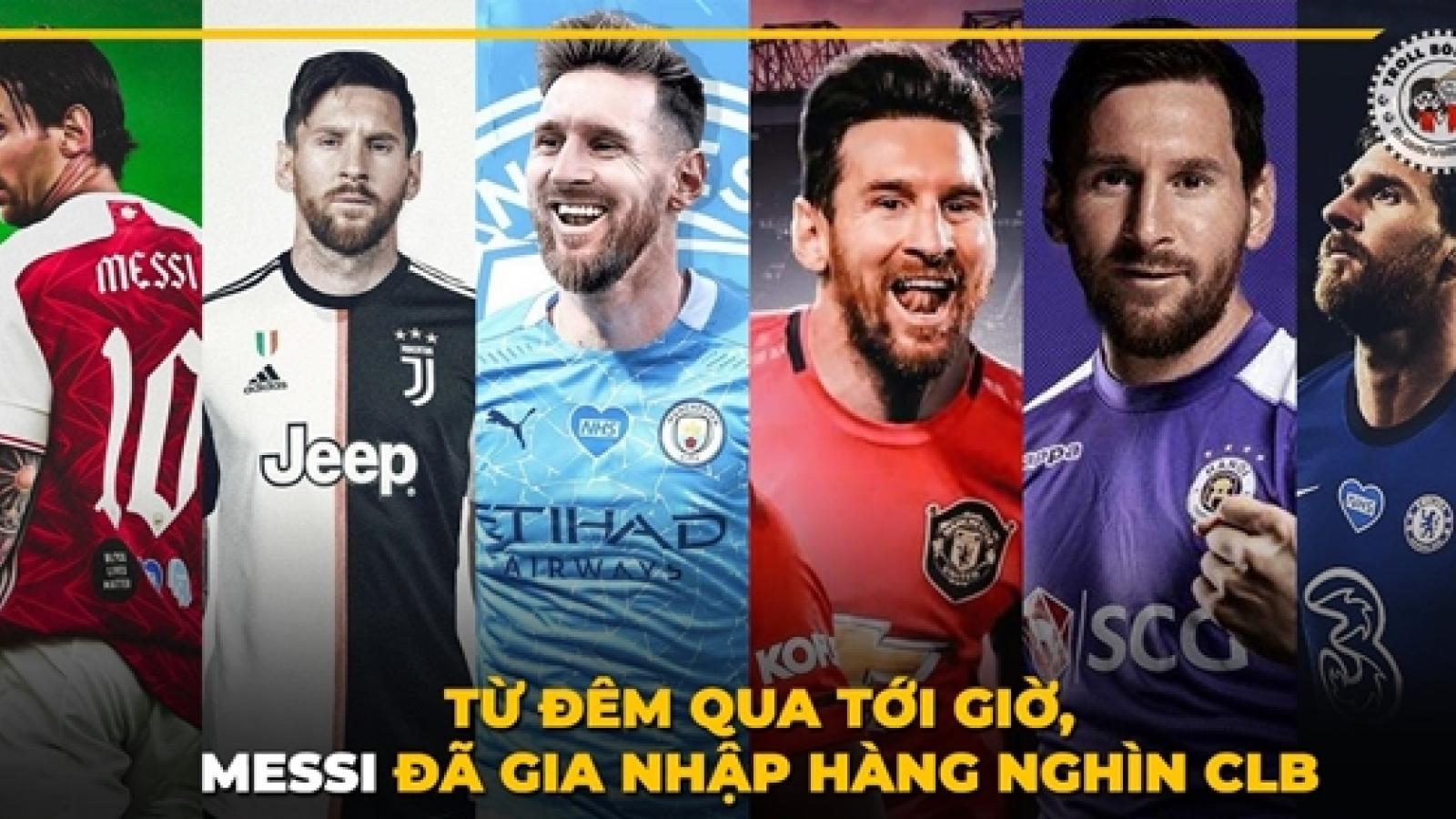 Biếm họa 24h: Các CLB V-League cũng tham gia cuộc đua giành chữ ký Lionel Messi