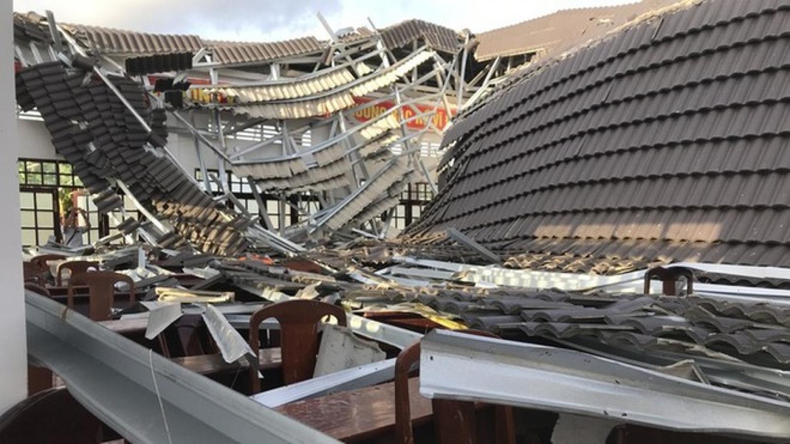 Sập mái nhà ở Thái Bình, 2 người chết tại chỗ, 2 người bị thương