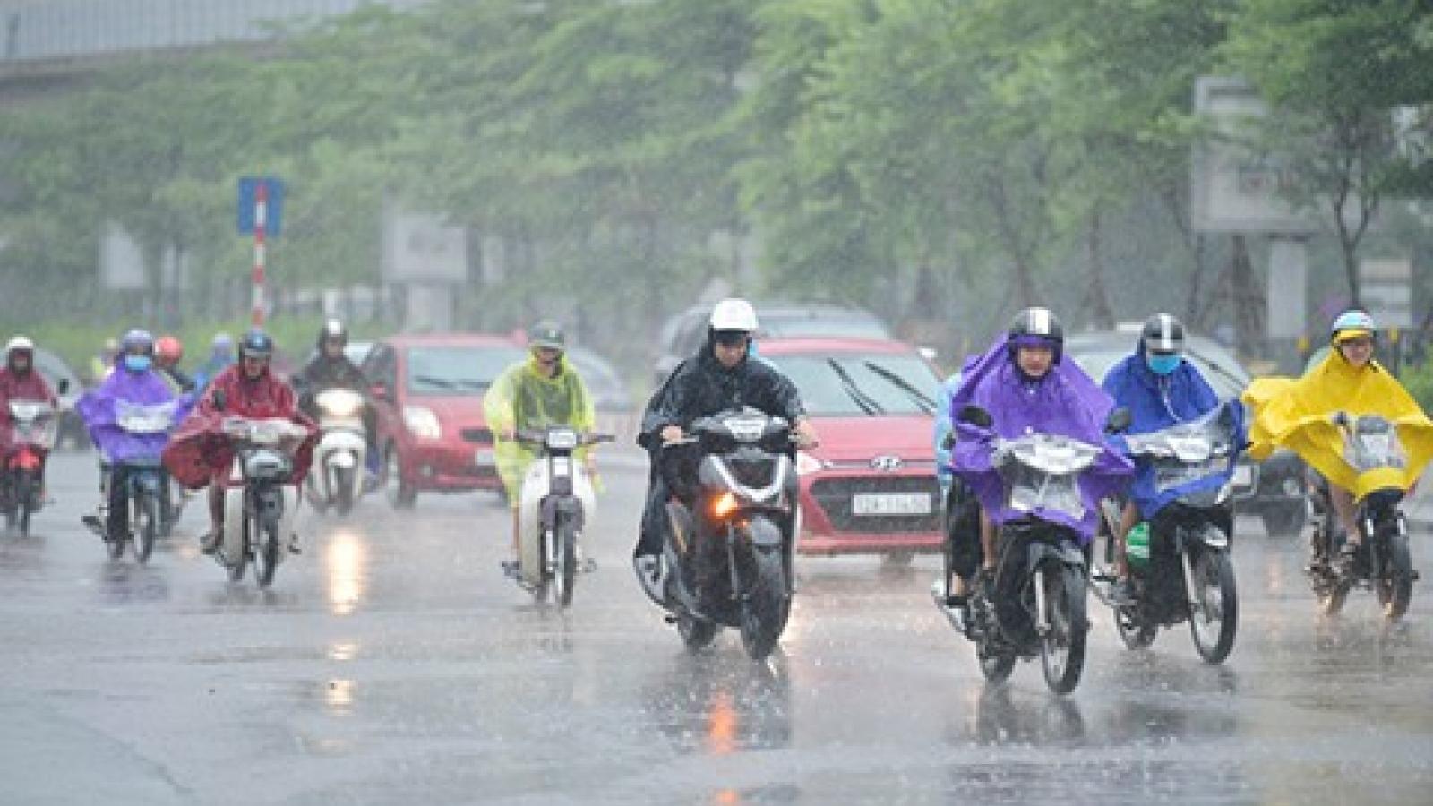 Thời tiết ngày 14/8: 3 miền tiếp tục có mưa rào và dông rải rác