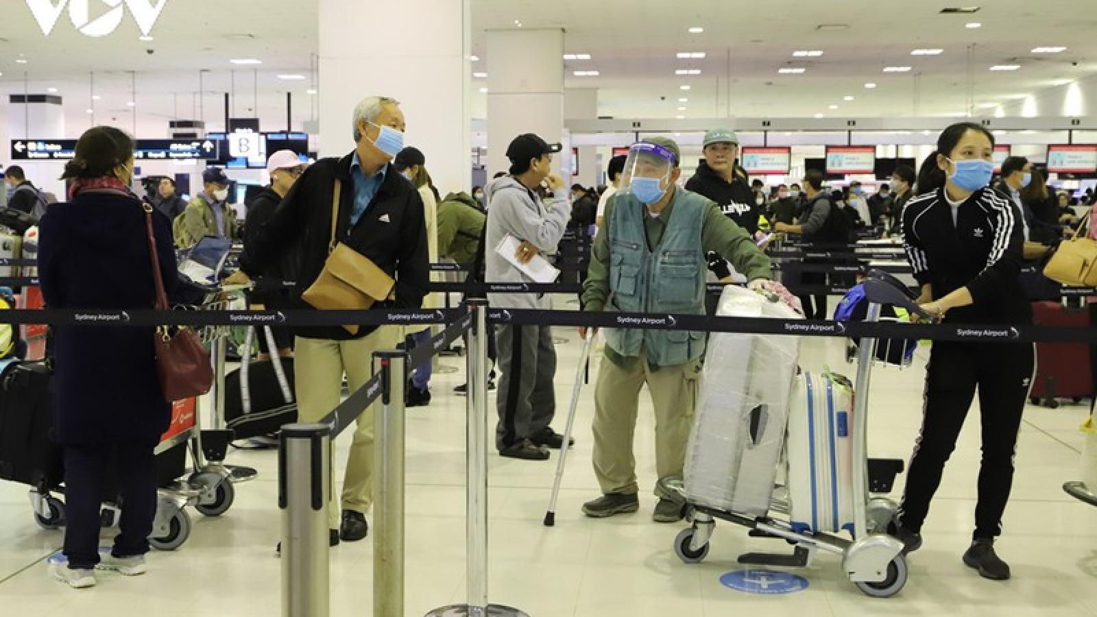 307 công dân Việt Nam kẹt ở Australia do Covid-19 sẽ về nước vào 20/8