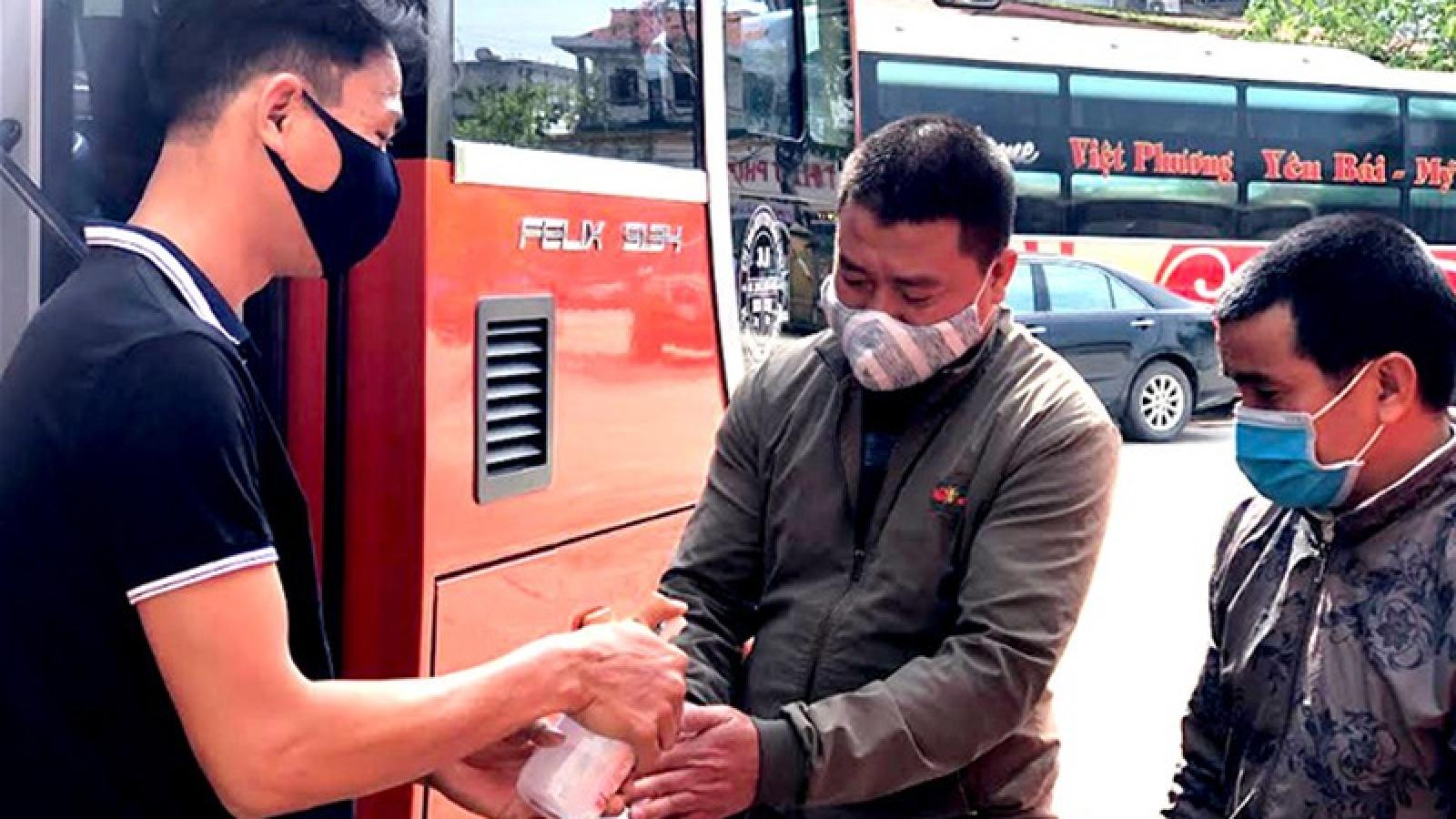 Yên Bái kích hoạt biện pháp phòng chống dịch trong vận tải khách
