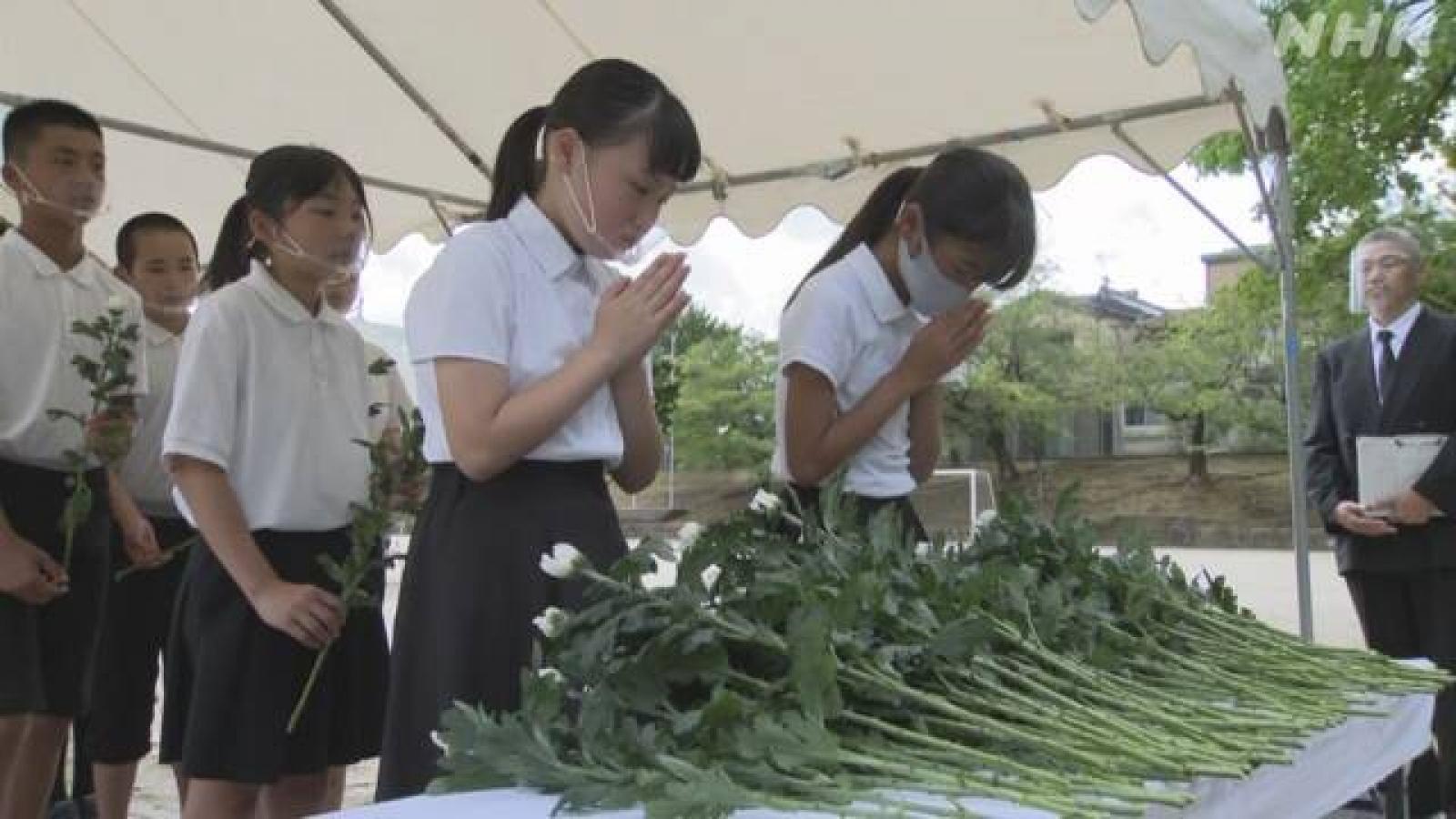 Nhật Bản kỷ niệm 75 năm Mỹ ném bom nguyên tử xuống Nagasaki