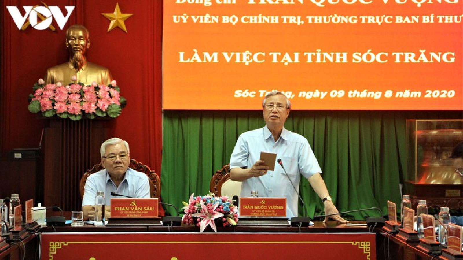 Ông Trần Quốc Vượng: Sóc Trăng cần làm tốt công tác chuẩn bị Đại hội cấp tỉnh