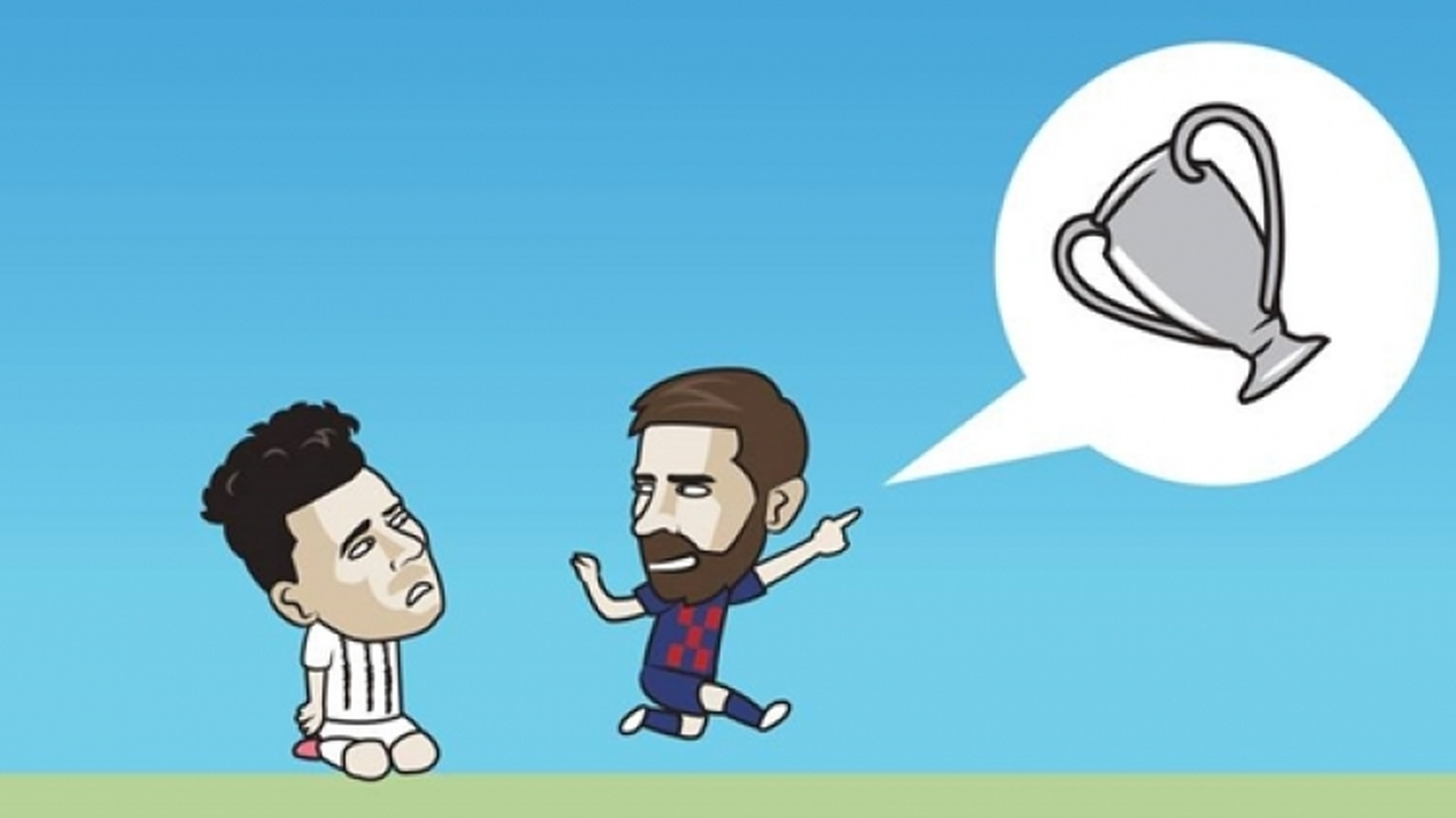 Biếm họa 24h: Ronaldo ngậm ngùi nhìn Messi tỏa sáng ở Champions League
