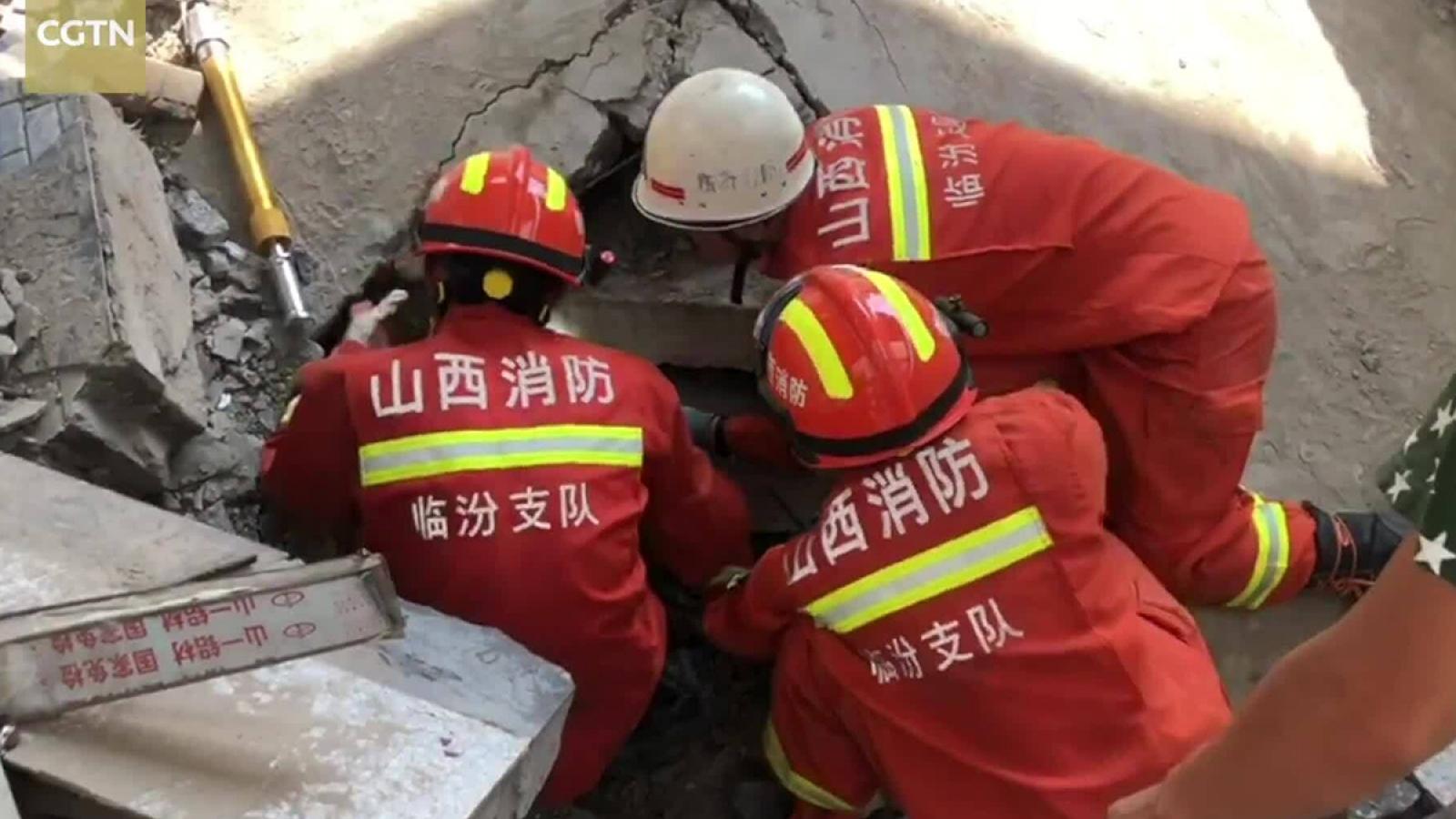 Sập nhà hàng tại Trung Quốc: Ít nhất 17 người chết