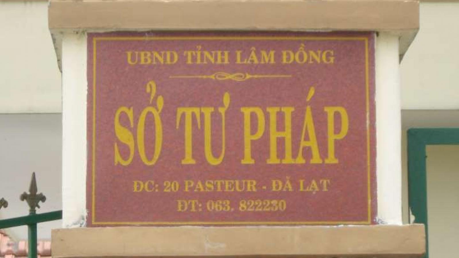Giám đốc Sở Tư pháp Lâm Đồng bị kỷ luật khiển trách