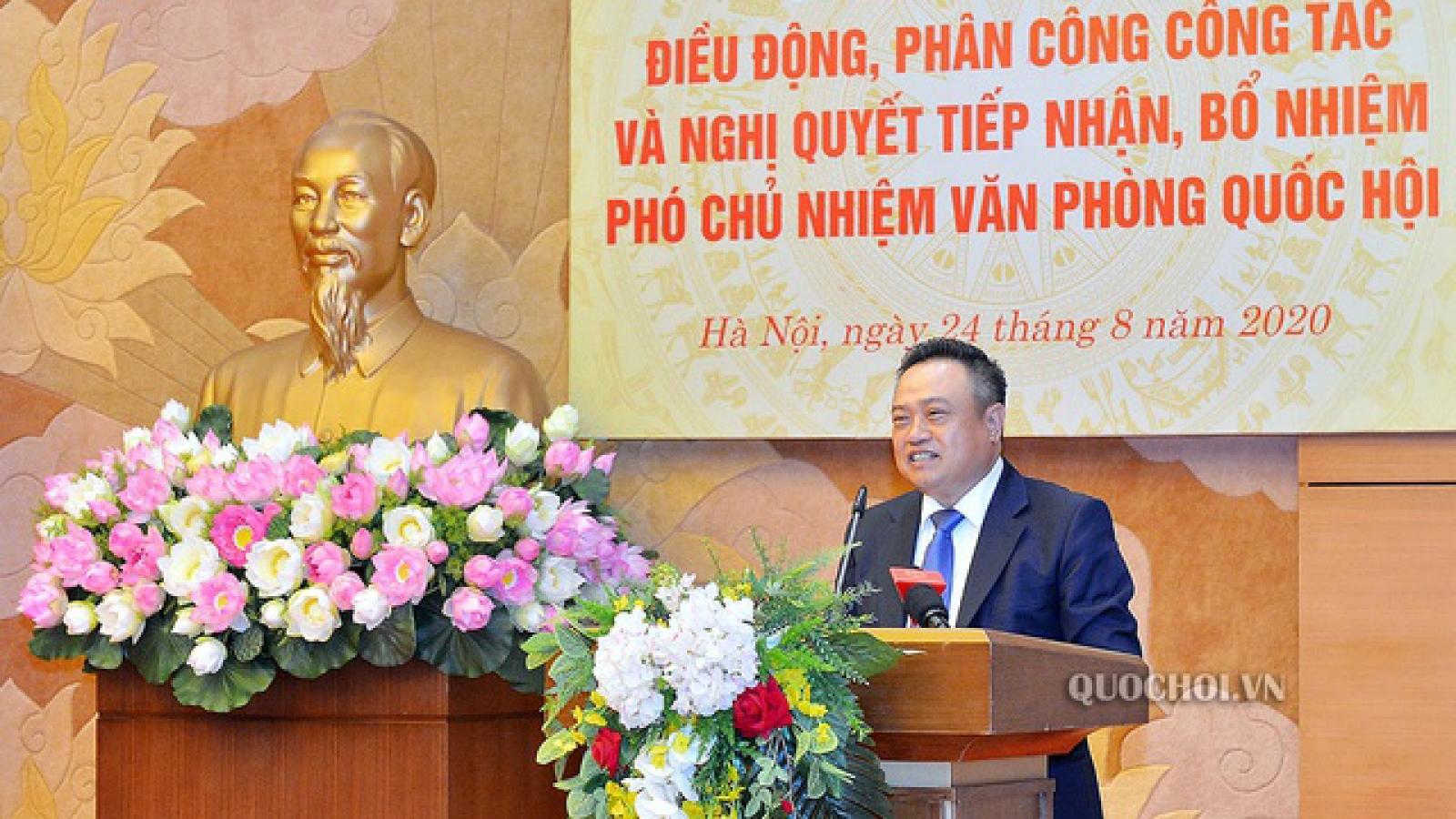 Chân dung ông Trần Sỹ Thanh - Tân Phó Chủ nhiệm Văn phòng Quốc hội