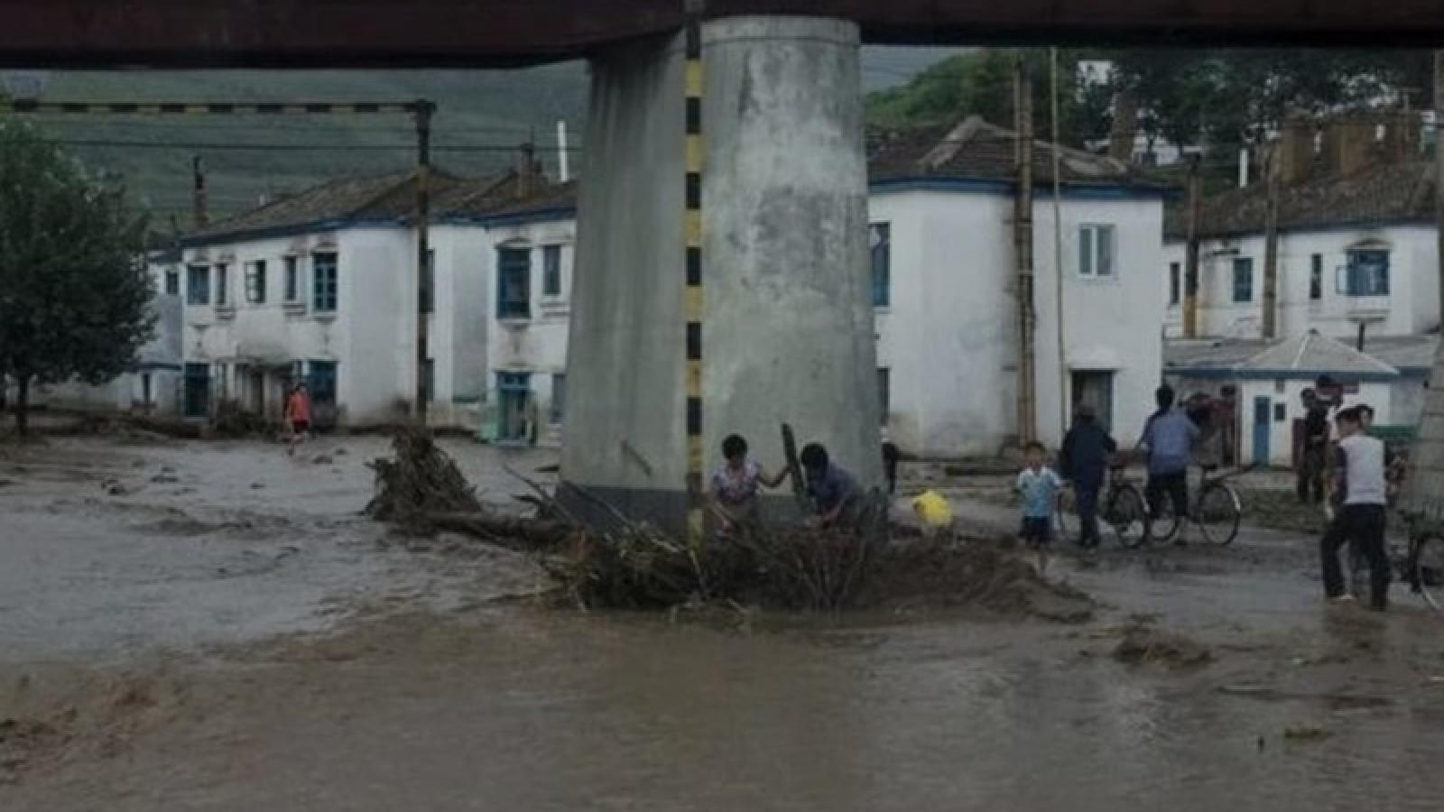 Triều Tiên phân phát lương thực cho cư dân vùng bị ngập lụt do mưa lũ