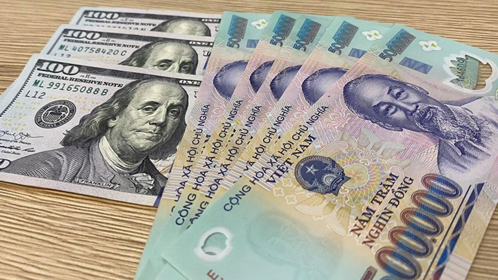 Tỷ giá trung tâm giảm nhẹ, xuống còn 23.208 VND/USD