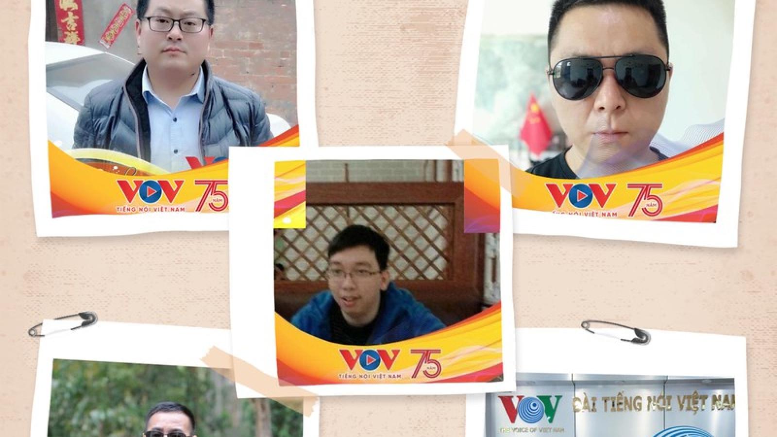 Thính giả Trung Quốc thay ảnh đại diện chúc mừng kỷ niệm 75 năm thành lập VOV