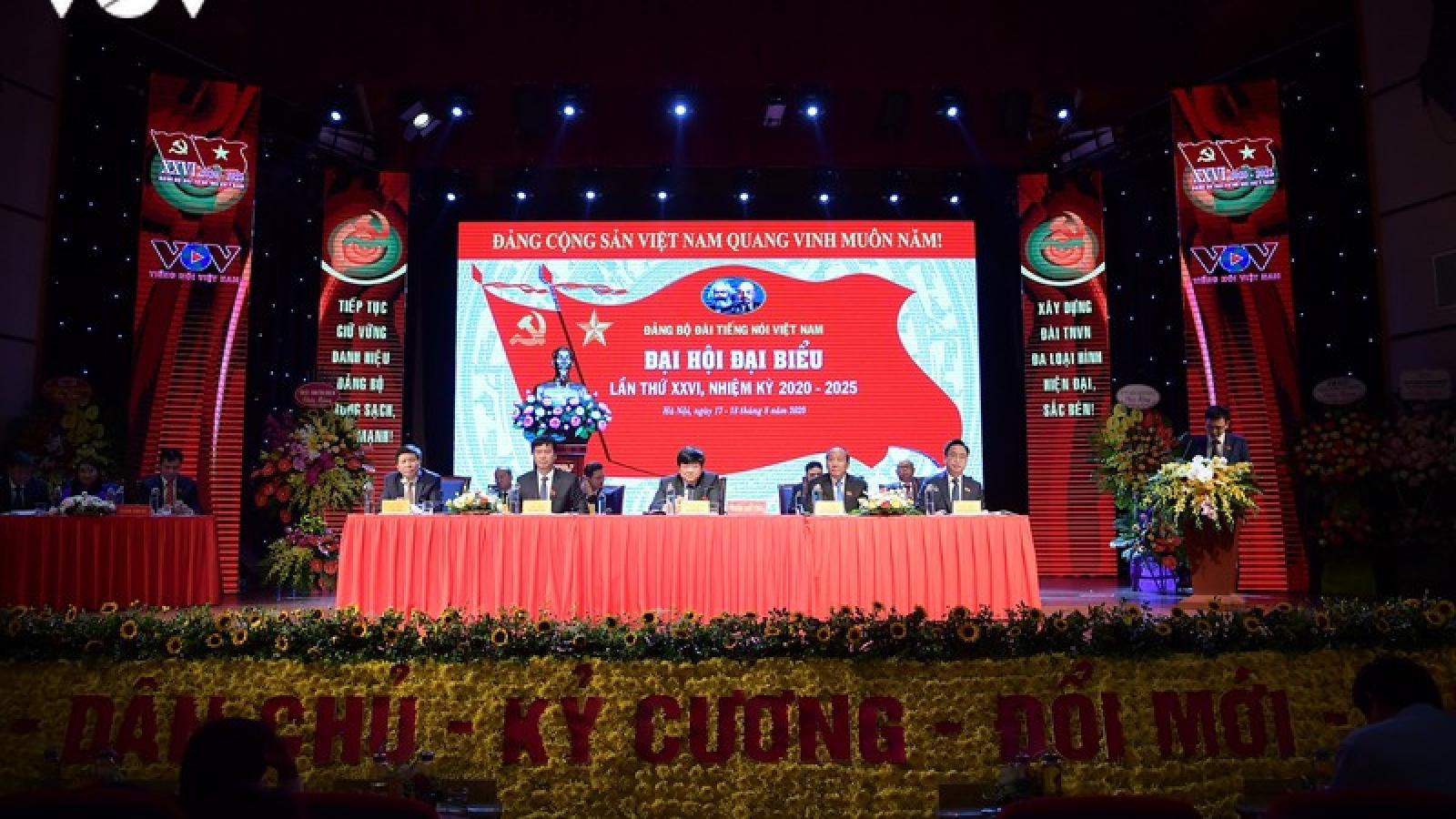 Toàn cảnh Đại hội Đại biểu Đảng bộ VOV lần thứ 26, nhiệm kỳ 2020-2025