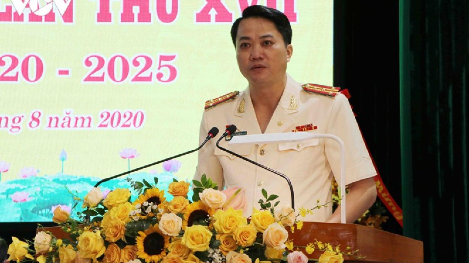 Đại tá Nguyễn Viết Giang giữ chức Bí thư Đảng ủy Công an tỉnh Lai Châu