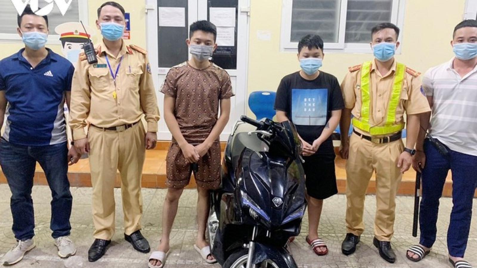 Hải Phòng: Bắt giữ nhóm quái xế lái xe lạng lách đánh võng trên phố