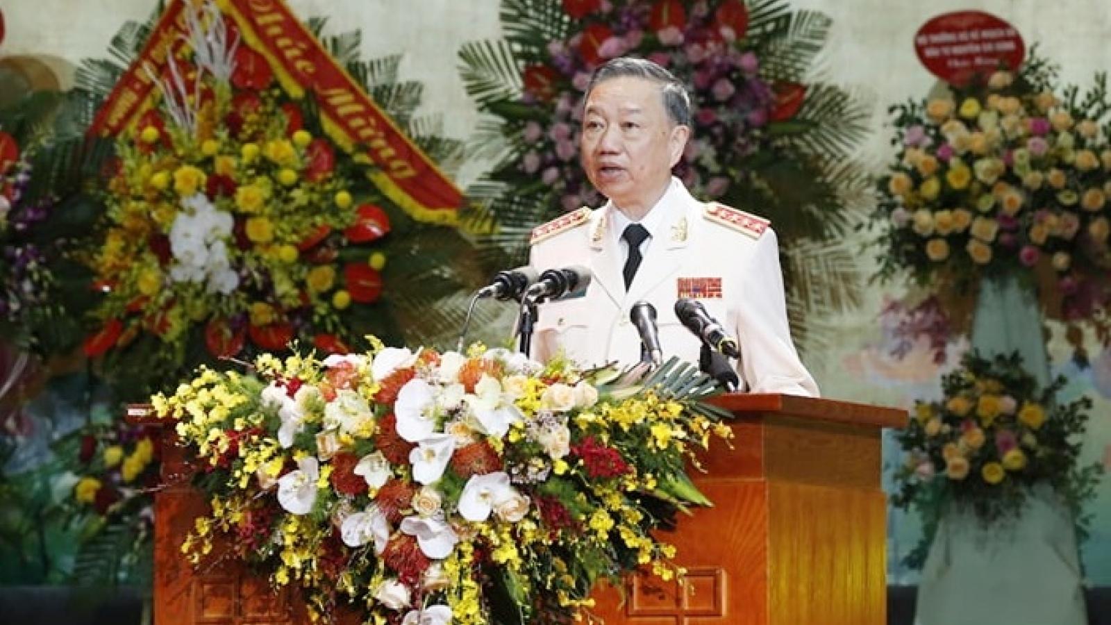 """Bộ trưởng Tô Lâm: """"75 năm qua chứng kiến sự trưởng thành của lực lượng CAND"""""""