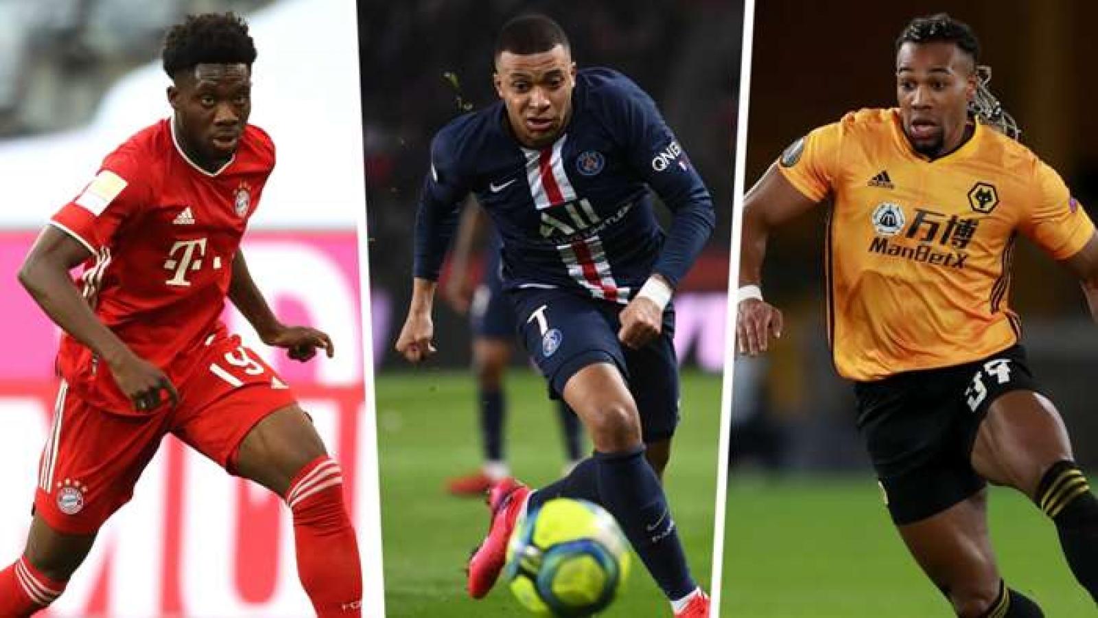 10 cầu thủ chạy nhanh nhất thế giới trong FIFA 21: Adama Traore dẫn đầu