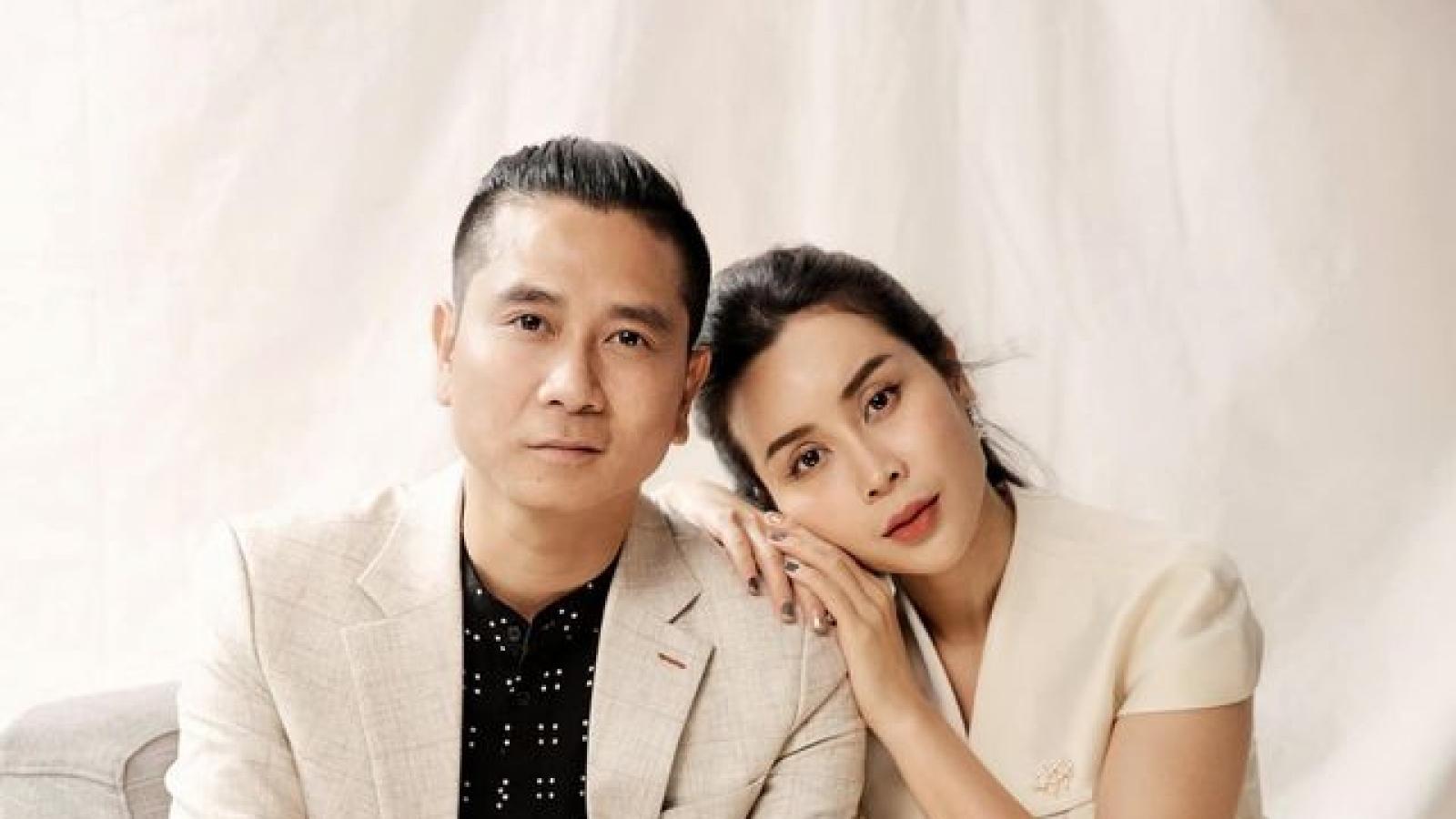 Vợ chồng Lưu Hương Giang chụp ảnh theo phong cách... vua Bảo Đại và Song Hye Kyo