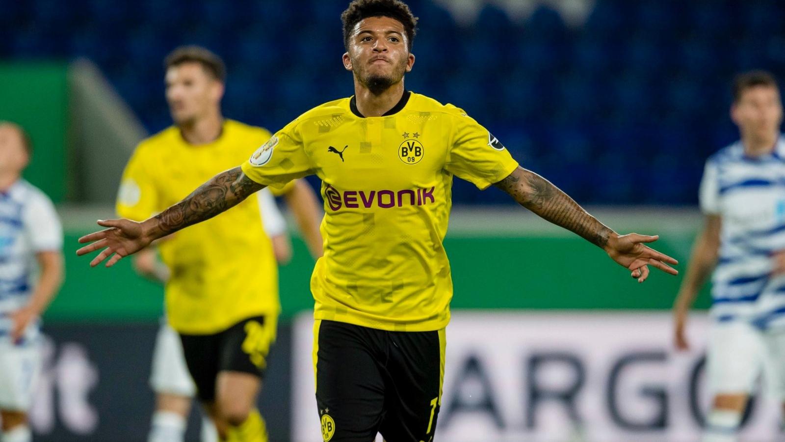 Jadon Sancho ghi bàn giúp Dortmund khởi đầu mùa giải mới như mơ