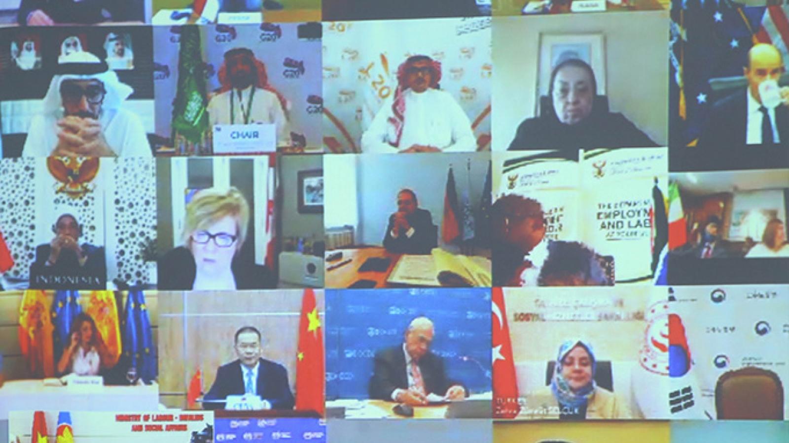 Việt Nam dự hội nghị trực tuyến Bộ trưởng Lao động và Việc làm G20
