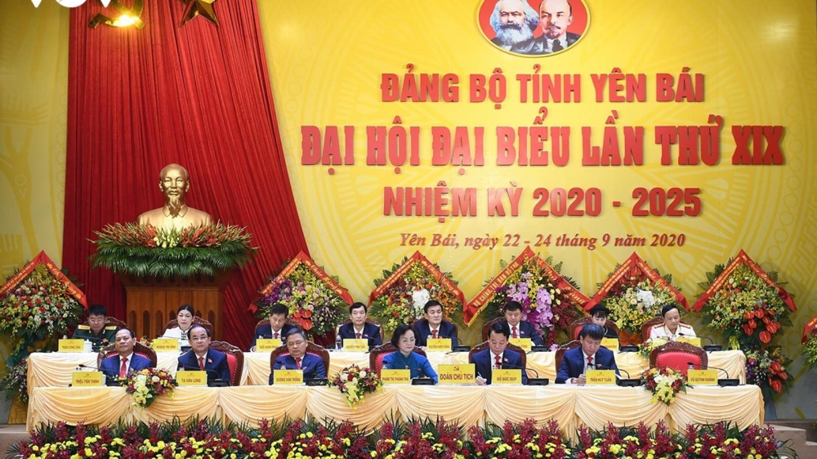 Thường trực Ban Bí thư Trần Quốc Vượng dự Đại hội Đảng bộ tỉnh Yên Bái