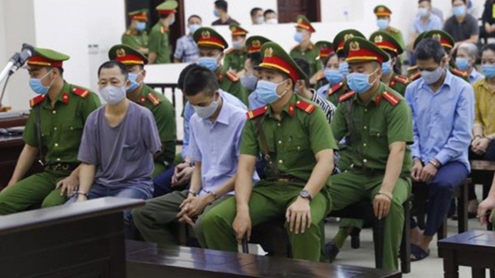 Các bị cáo vụ án giết người, chống người thi hành công vụ ở Đồng Tâm hầu tòa