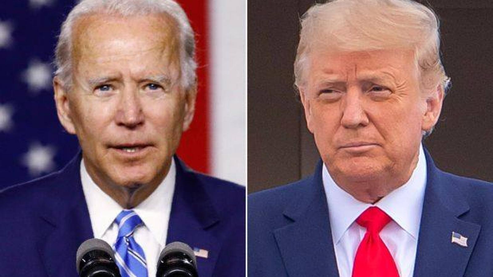 Ông Biden dẫn trước ở 2 bang từng mang lại chiến thắng cho ông Trump năm 2016