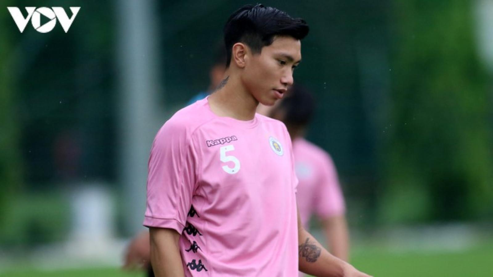 """Hà Nội FC """"méo mặt"""" vì Đoàn Văn Hậu dính chấn thương, phải nghỉ 6 tuần."""