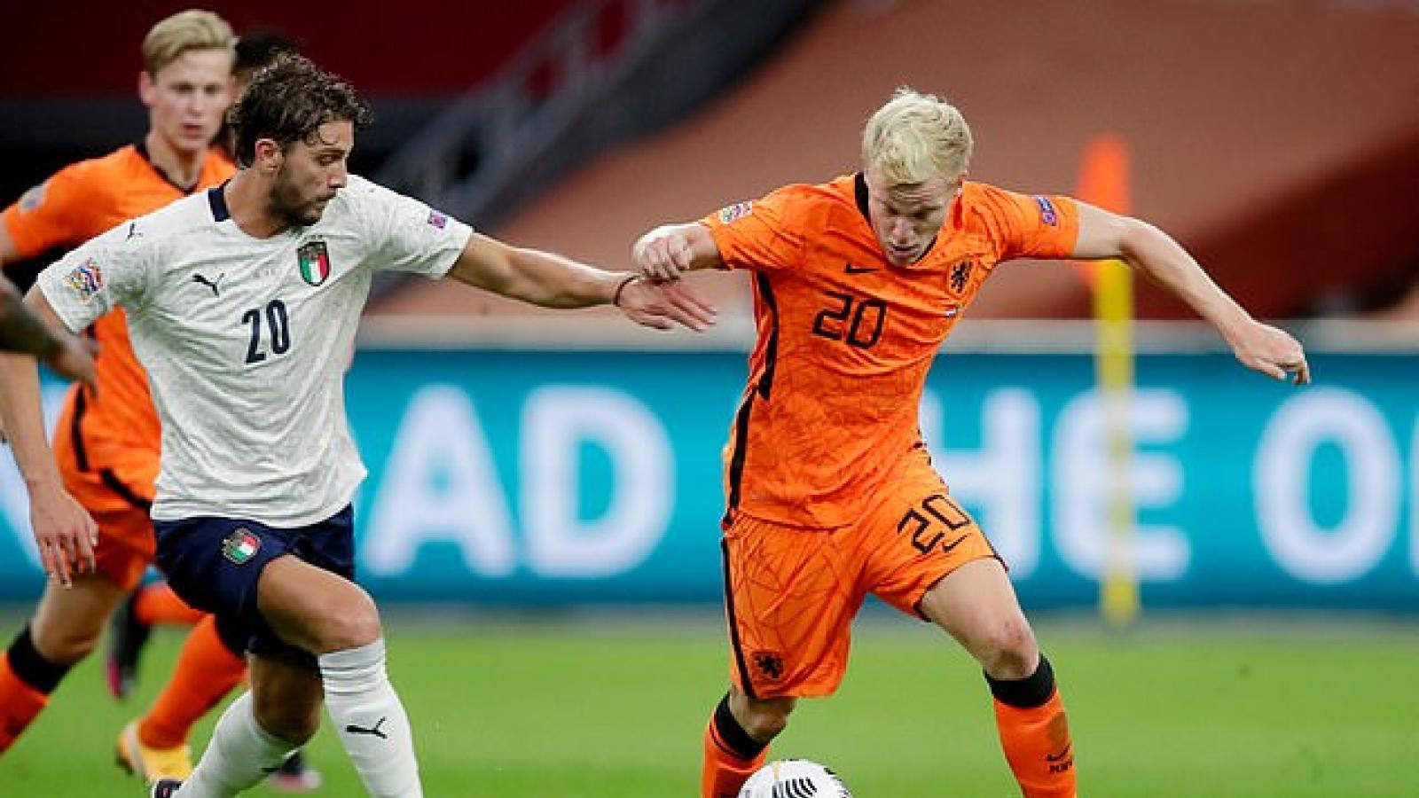 UEFA Nations League:Tân binh MU bất lực nhìn Hà Lan thất thủ 0-1 trước Italia trên sân nhà