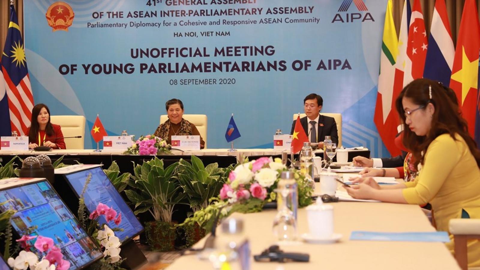 Nghị sĩ trẻ AIPA đánh giá cao sáng kiến của Việt Nam