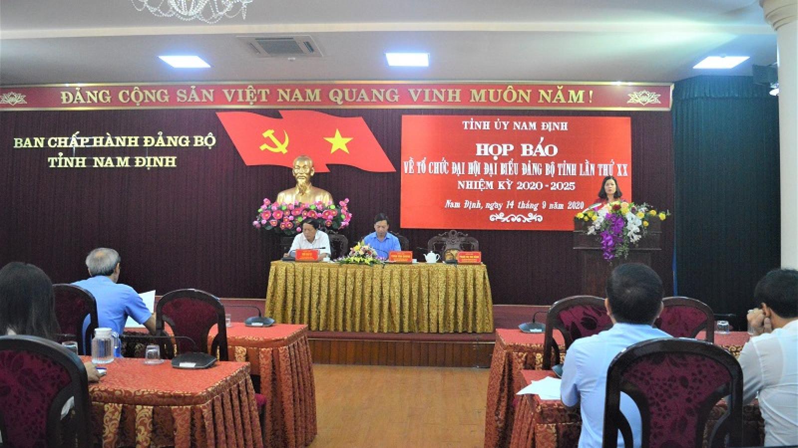 Đại hội đại biểu Đảng bộ tỉnh Nam Định lần thứ XX diễn ra từ ngày 23-26/9/2020