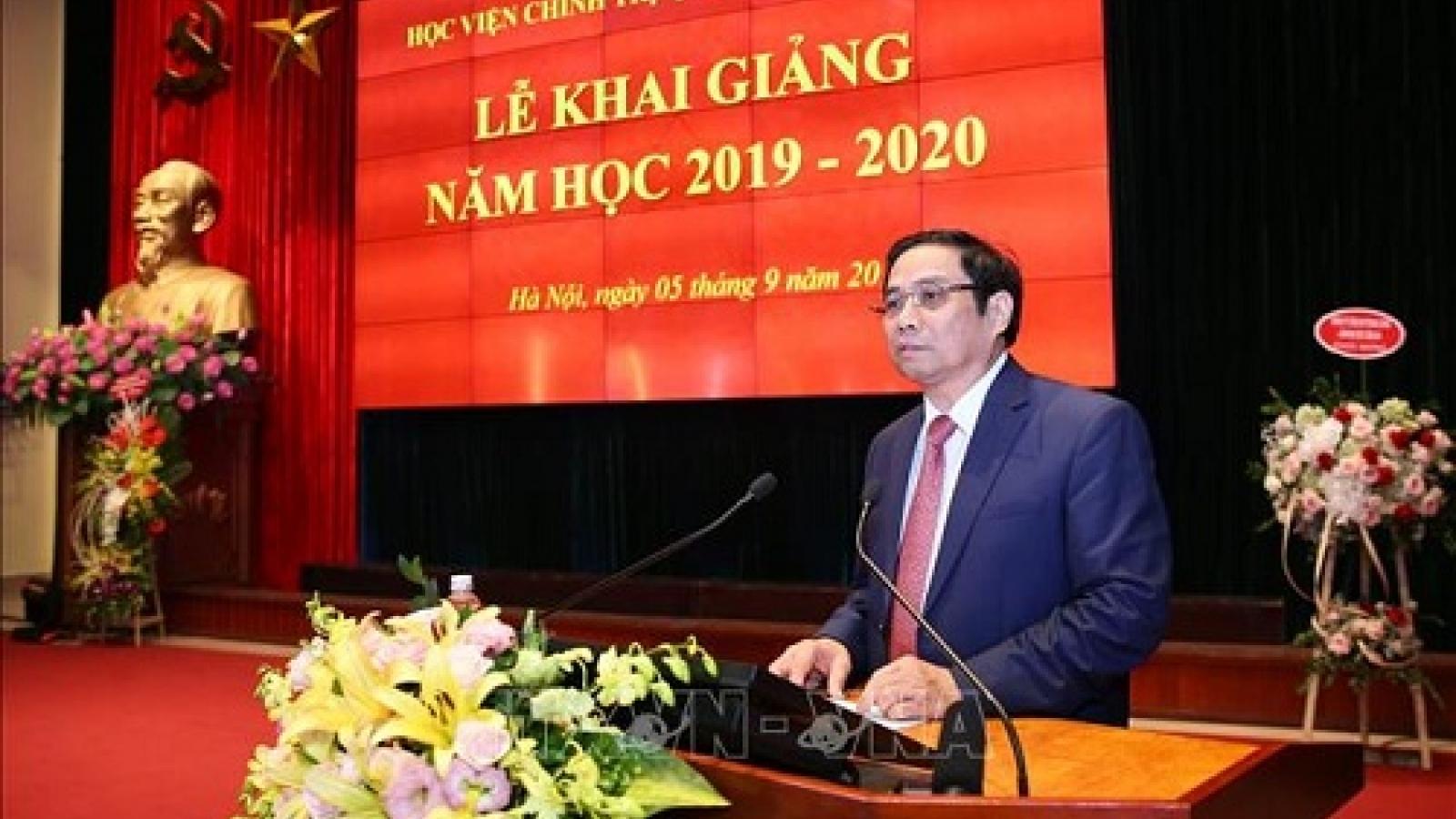 Ông Phạm Minh Chính dự Lễ khai giảng Học việnChính trị Quốc gia Hồ Chí Minh