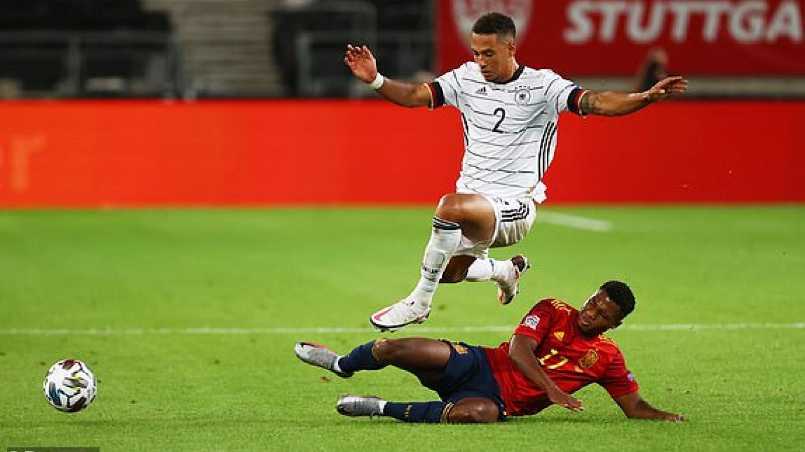Thủng lưới ở phút bù giờ thứ 6, ĐT Đức đánh rơi chiến thắng trước Tây Ban Nha