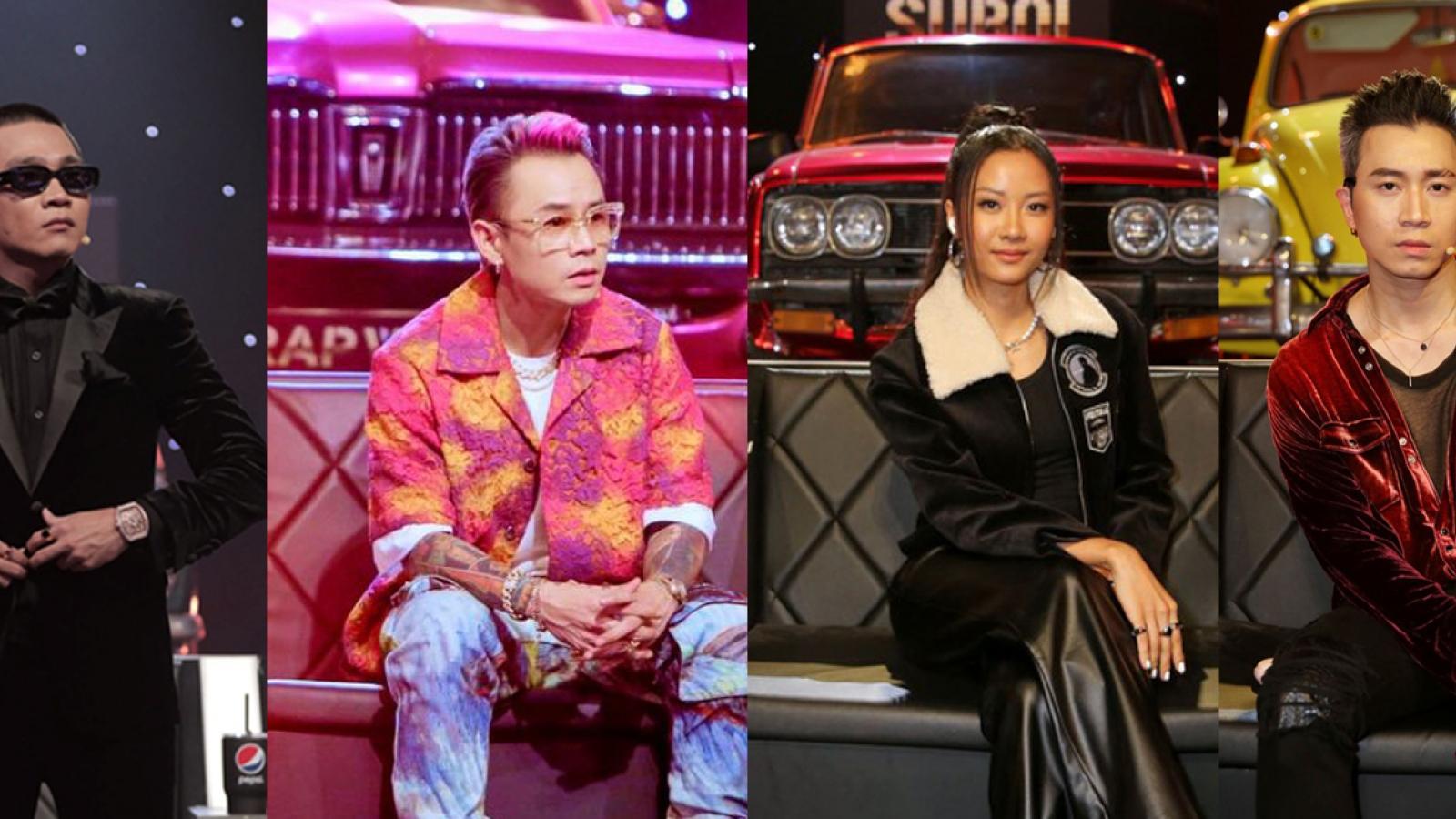 """""""Bóc giá"""" loạt trang phục đắt đỏ của dàn HLV Rap Việt trong vòng Đối đầu"""