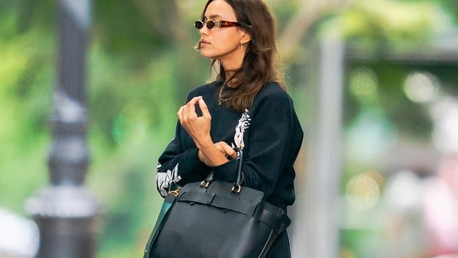 Irina Shayk để mặt mộc, mặc đồ giản dị ra phố sau ồn ào tái hợp tình cũ