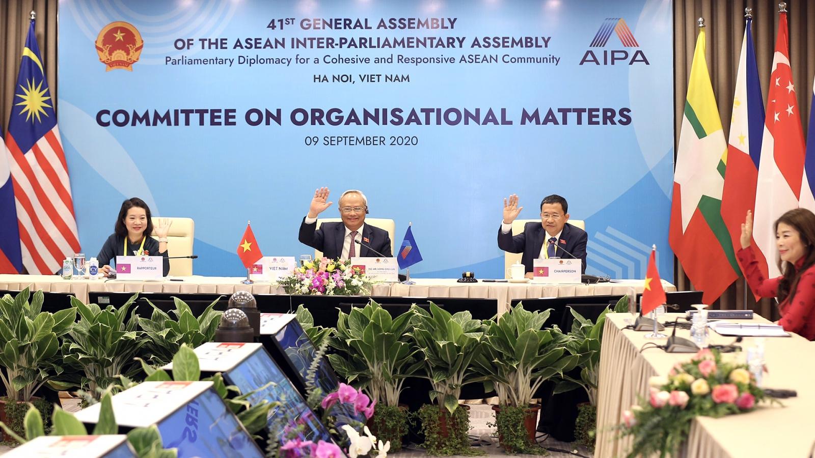 Uỷ ban về các vấn đề tổ chức ủng hộ thành lập Hội nghị Nghị sĩ trẻ AIPA