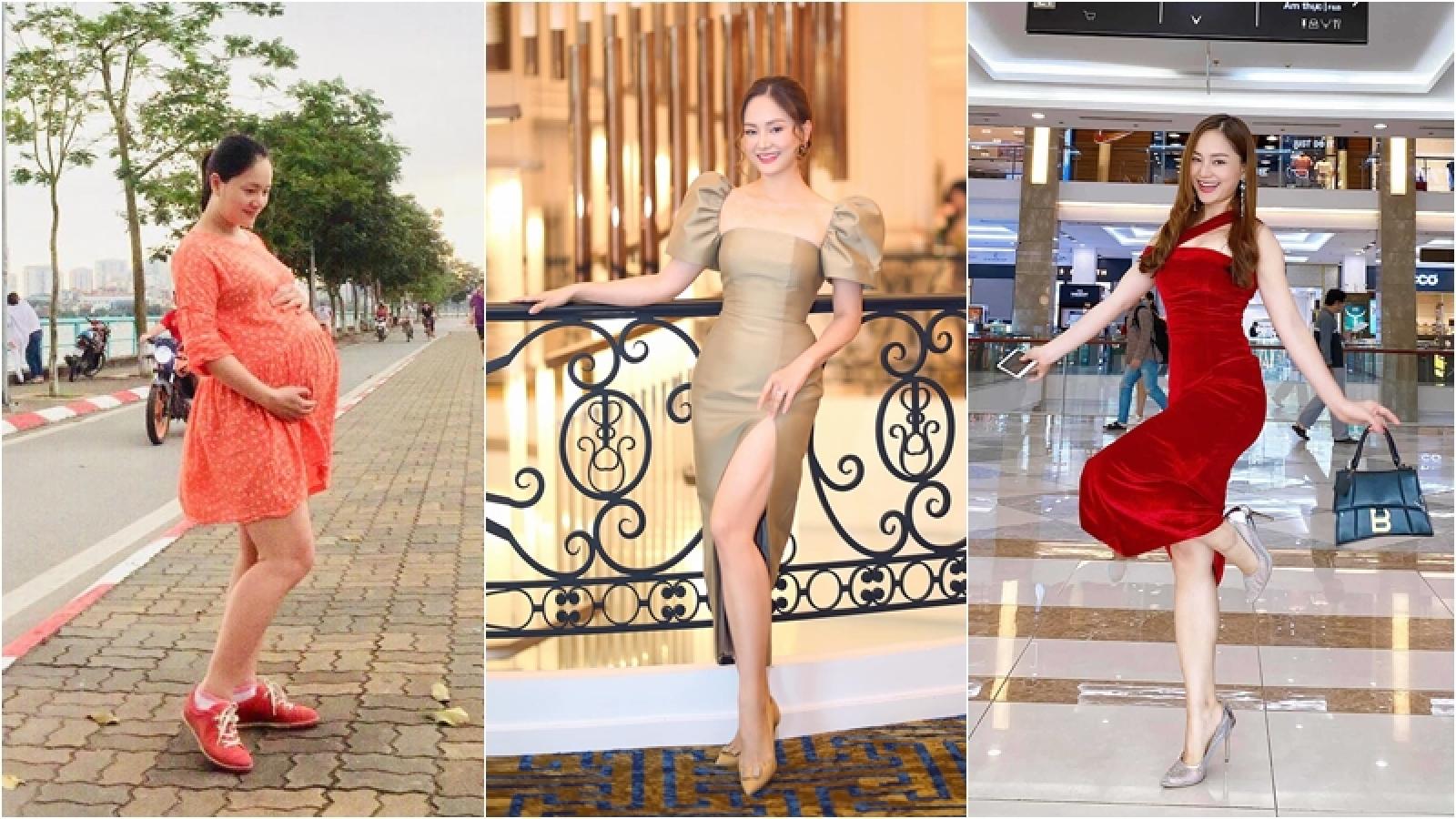 """Từng tăng 18kg khi mang bầu, Lan Phương về dáng """"thần tốc"""" sau sinh, tự tin đọ sắc hoa hậu"""