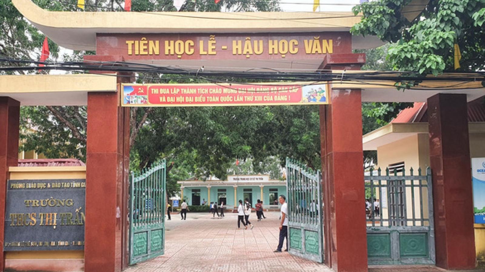 Sở GD-ĐT Thanh Hoá chỉ đạo làm rõ việc nữ sinh lớp 9 mang bầu