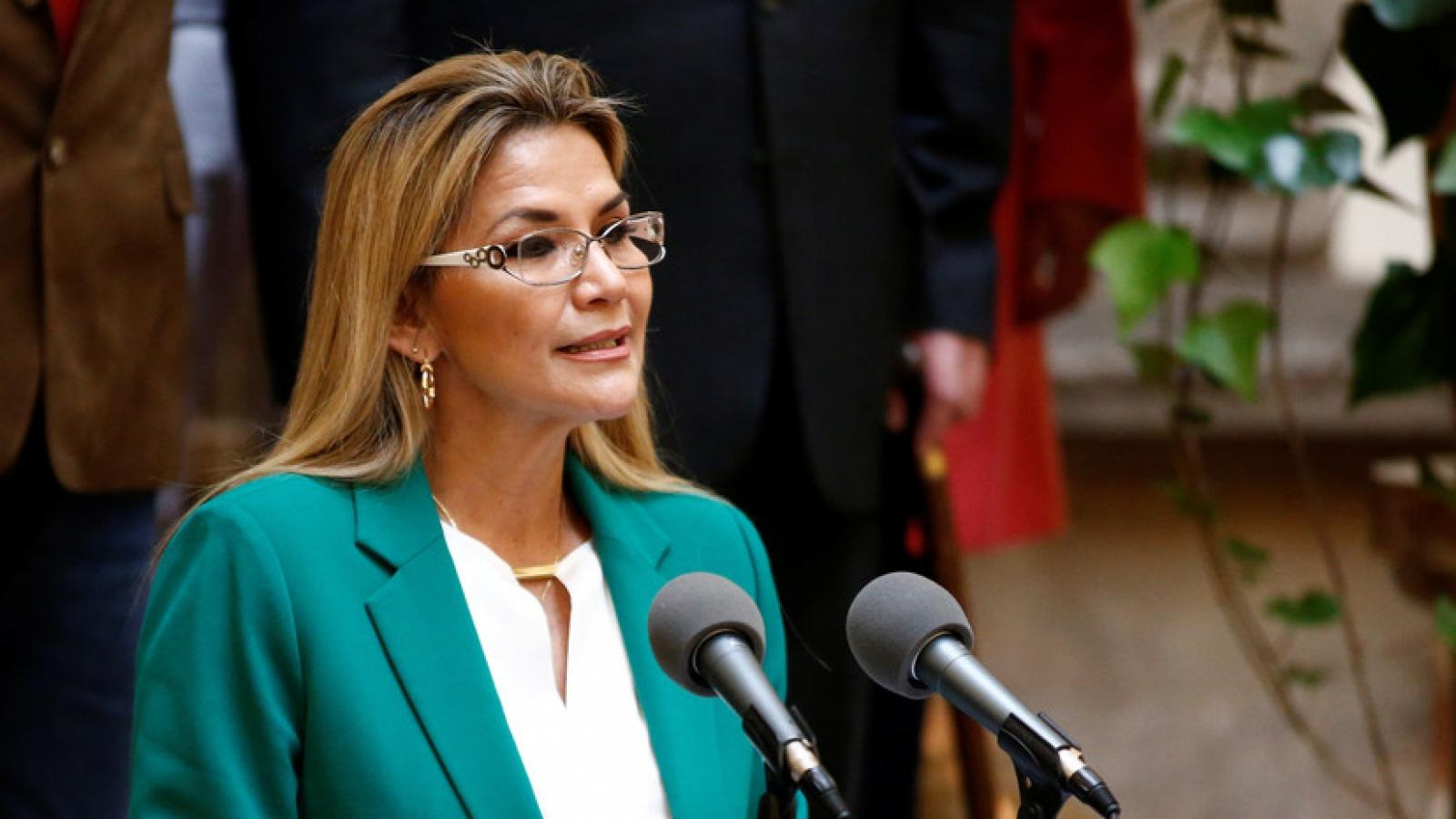 Tổng thống lâm thời Bolivia rút khỏi cuộc tranh cử tổng thống