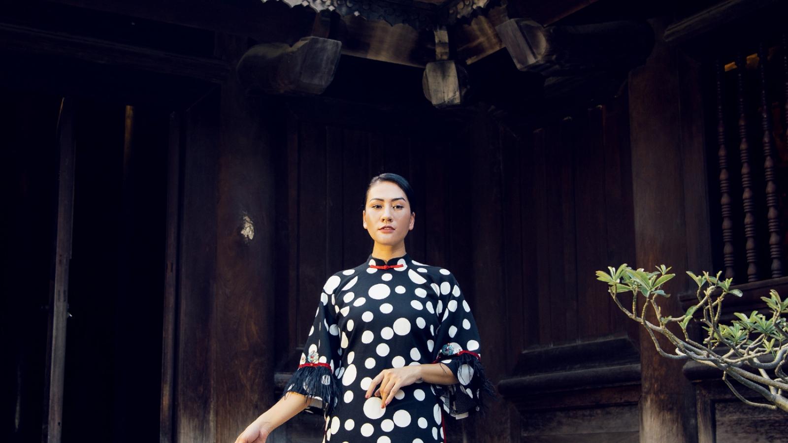 Bộ sưu tập áo dài lấy cảm hứng từ nghệ thuật bài chòi của NTK Cao Minh Tiến