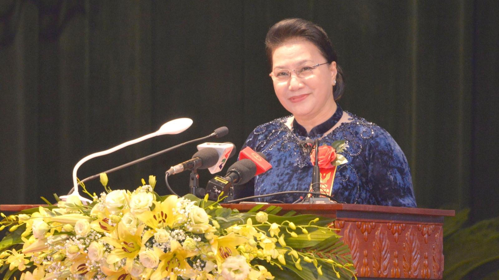 Chủ tịch Quốc hội dự Đại hội Thi đua yêu nước tỉnh Thái Nguyên