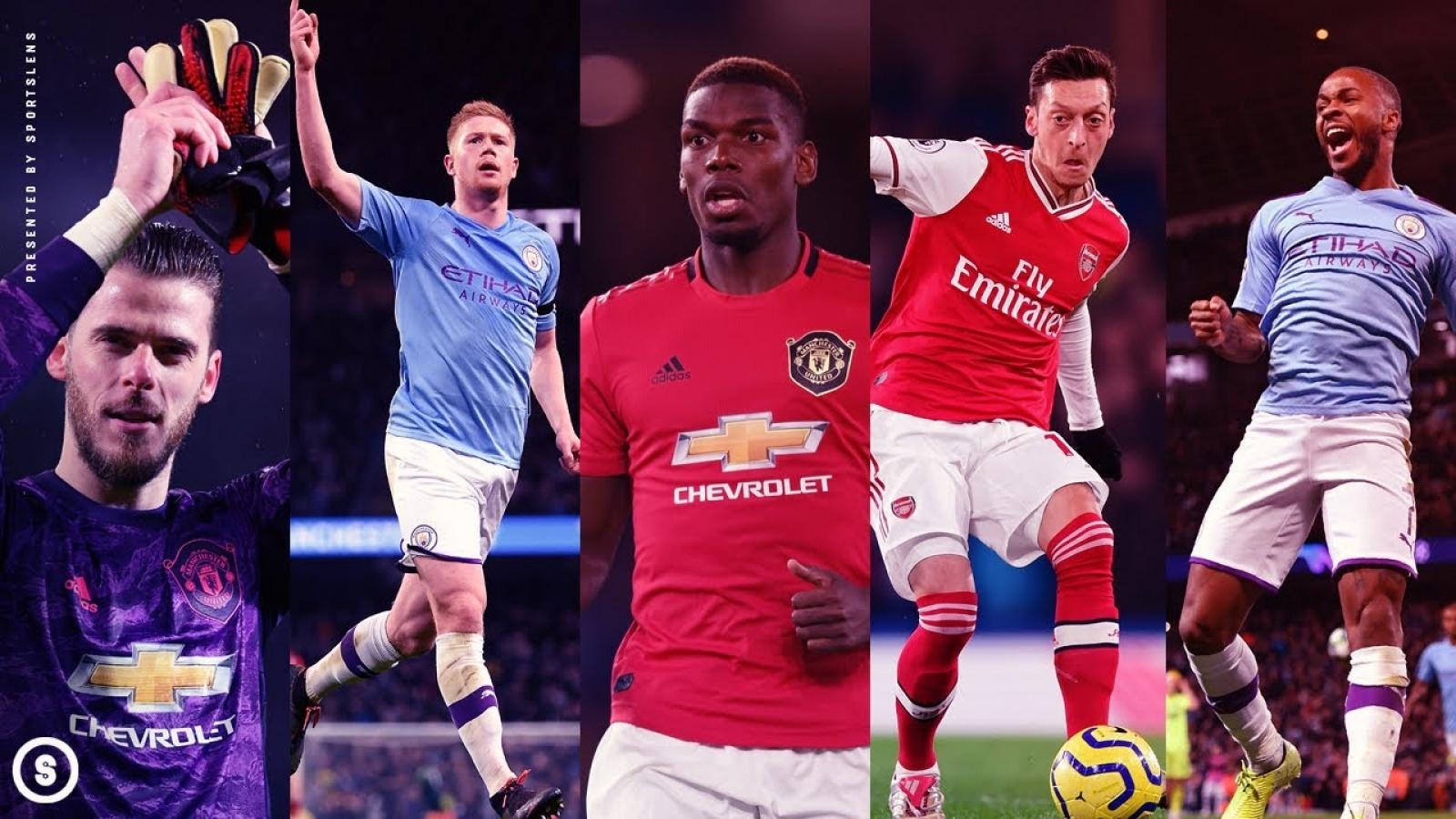 """Top cầu thủ hưởng lương cao nhất Ngoại hạng Anh: Sao MU sát cánh cùng """"sát thủ"""" Arsenal"""