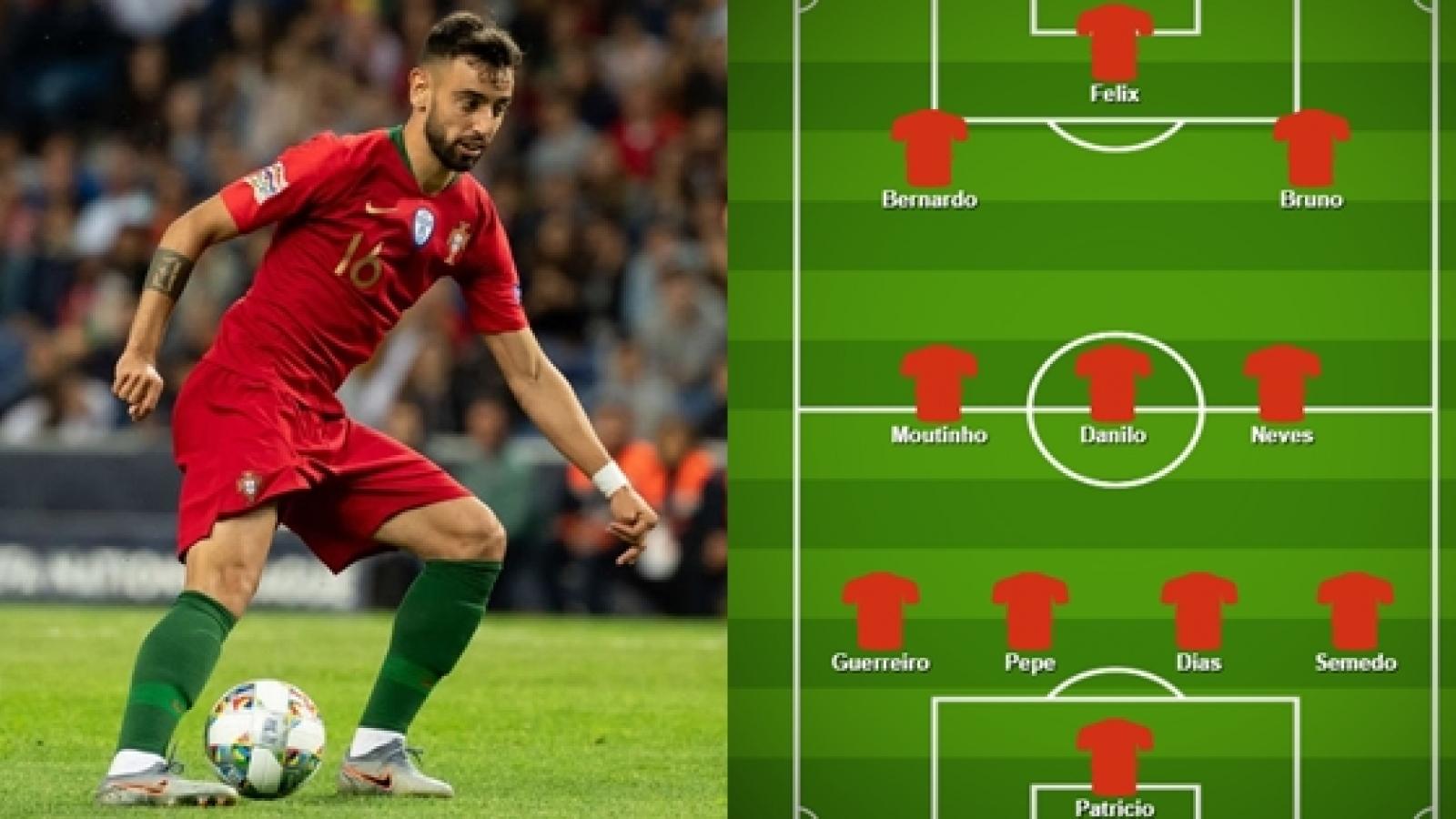 """Đội hình dự kiến trận ĐT Bồ Đào Nha - ĐT Croatia: Bruno Fernandes tiếp đạn cho """"Tiểu Ronaldo"""""""
