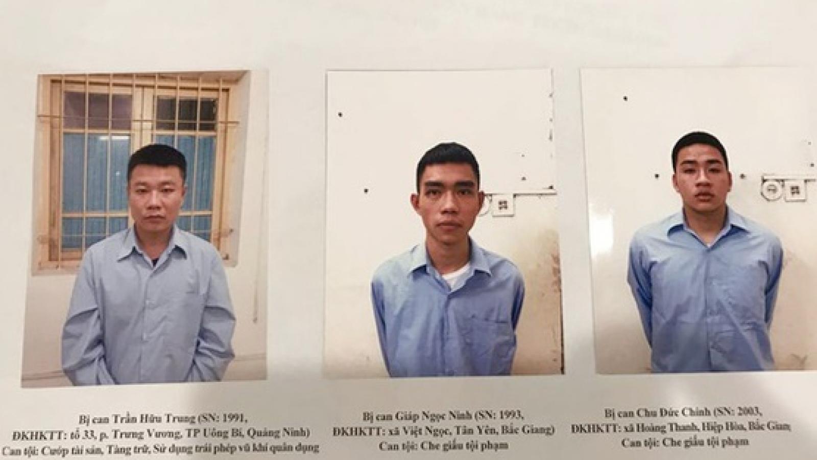 Kẻ nổ súng cướp ngân hàng ở Sóc Sơn sắp bị đưa ra xét xử