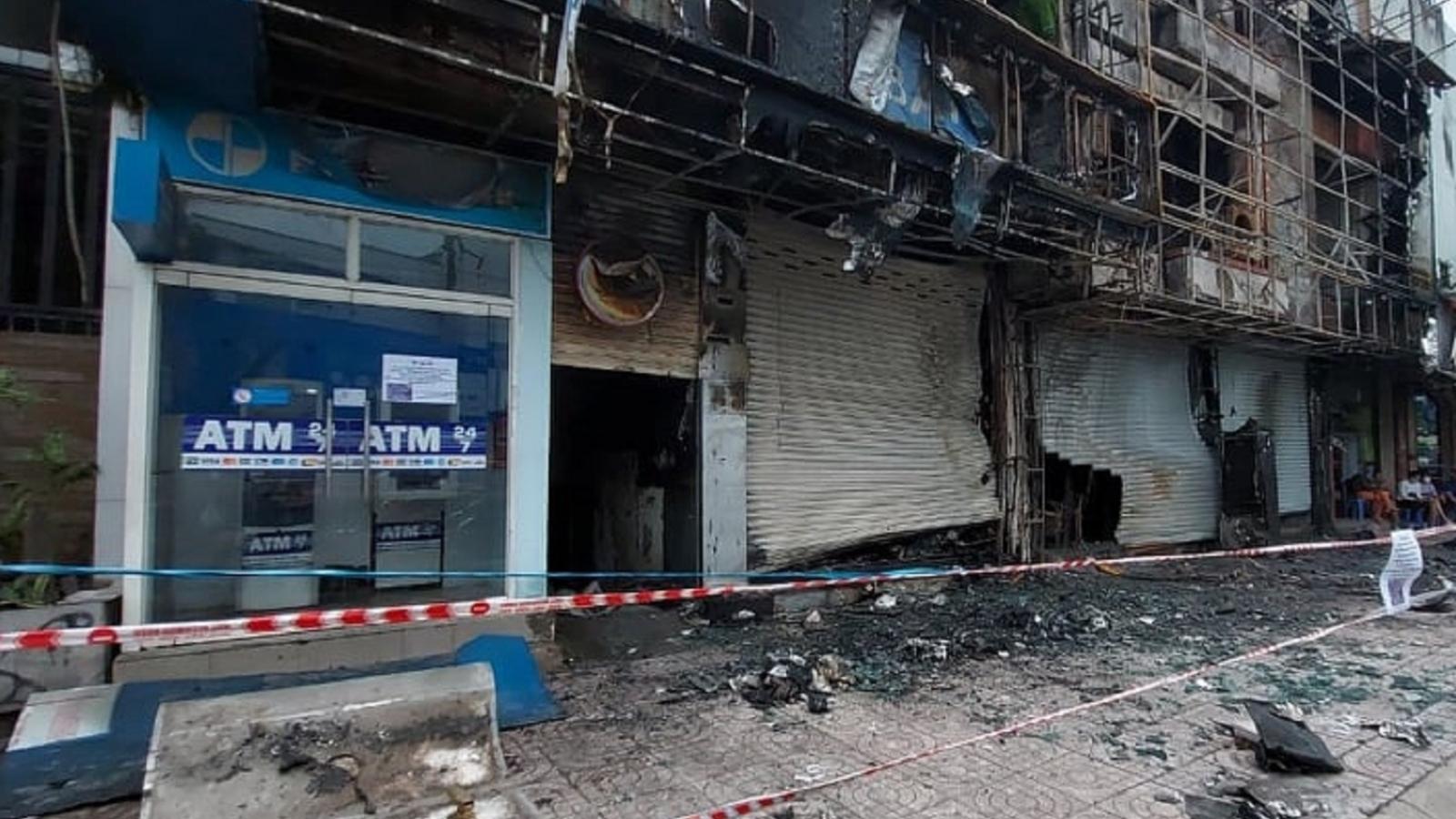 Tạm giữ nghi can gây ra vụ cháy Ngân hàng Eximbank ở quận Gò Vấp