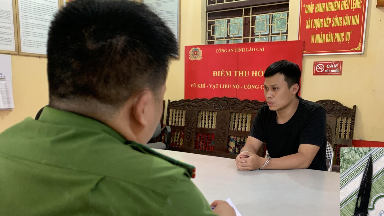Đối tượng đâm trọng thương 2 Công an xã ở Lào Cai ra đầu thú