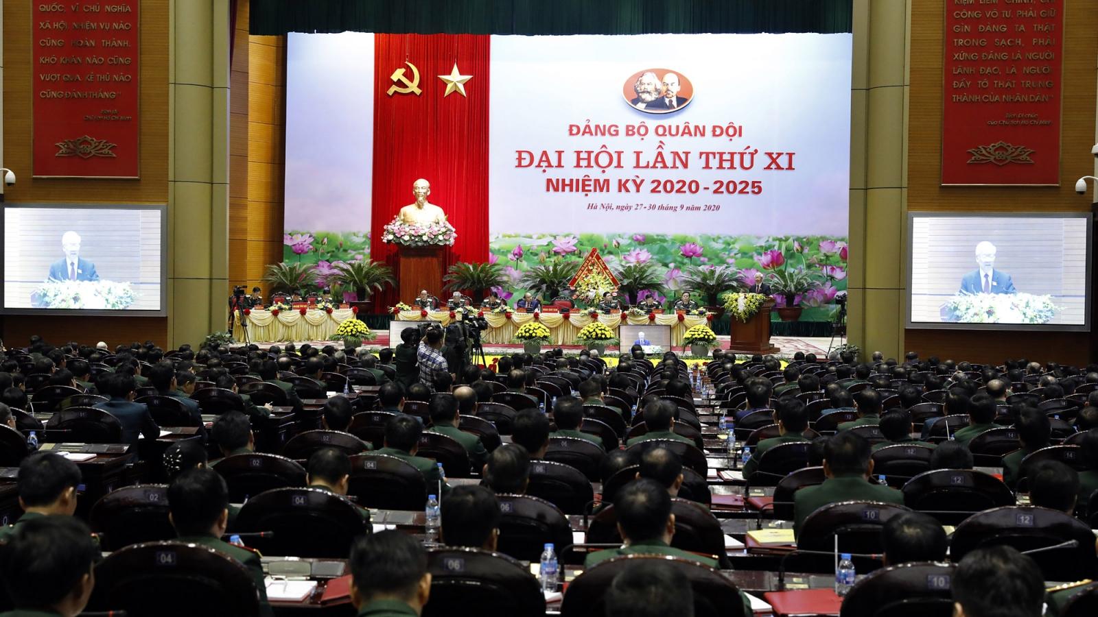 Chính thức khai mạc Đại hội đại biểu Đảng bộ Quân đội lần thứ XI