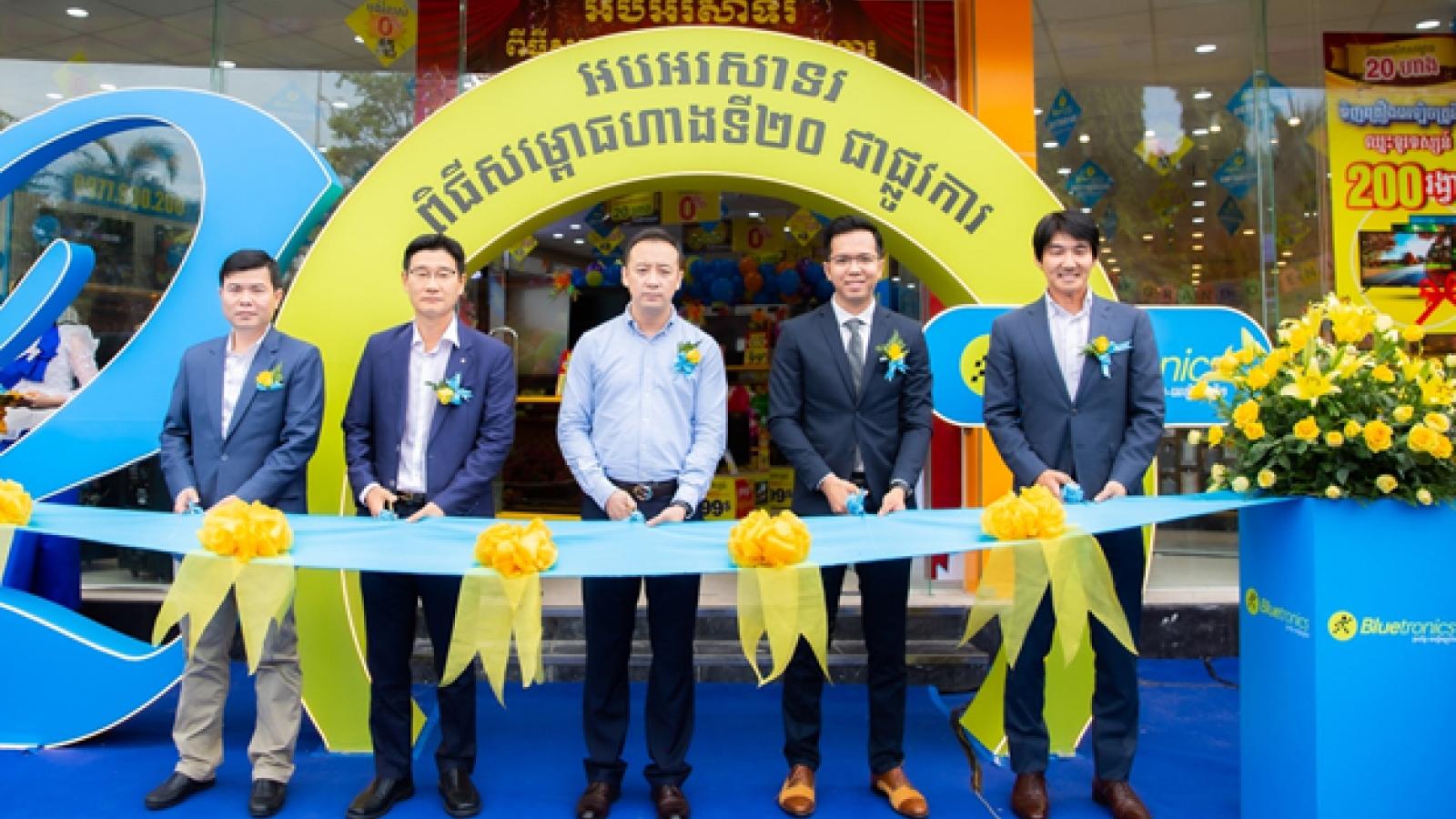 Điện máy Xanh 'xuất ngoại' thần tốc, số lượng shop gấp 3 lần đối thủ lớn nhất ở Campuchia