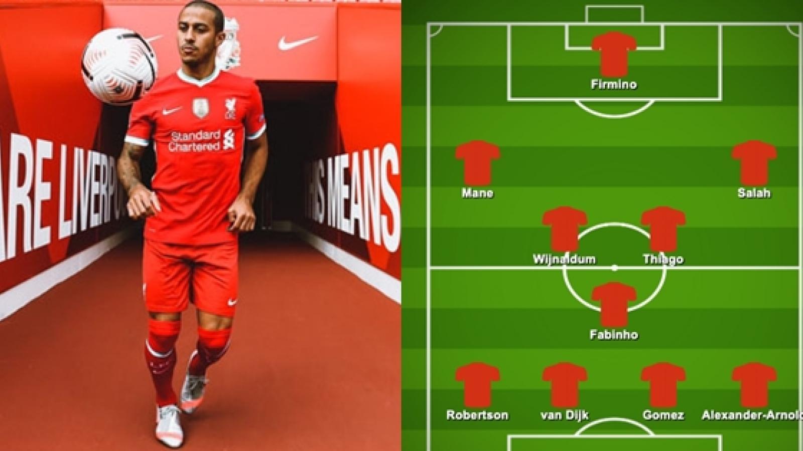 Đội hình dự kiến của Liverpool trước Arsenal: Thiago lần đầu đá chính?