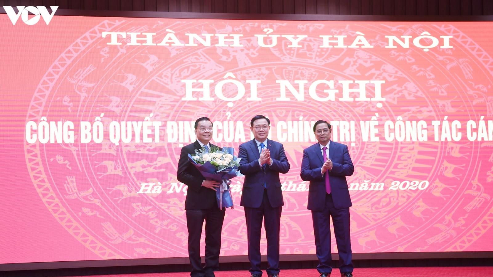 Bộ trưởng Bộ KH-CN Chu Ngọc Anh làm Phó Bí thư Thành ủy Hà Nội